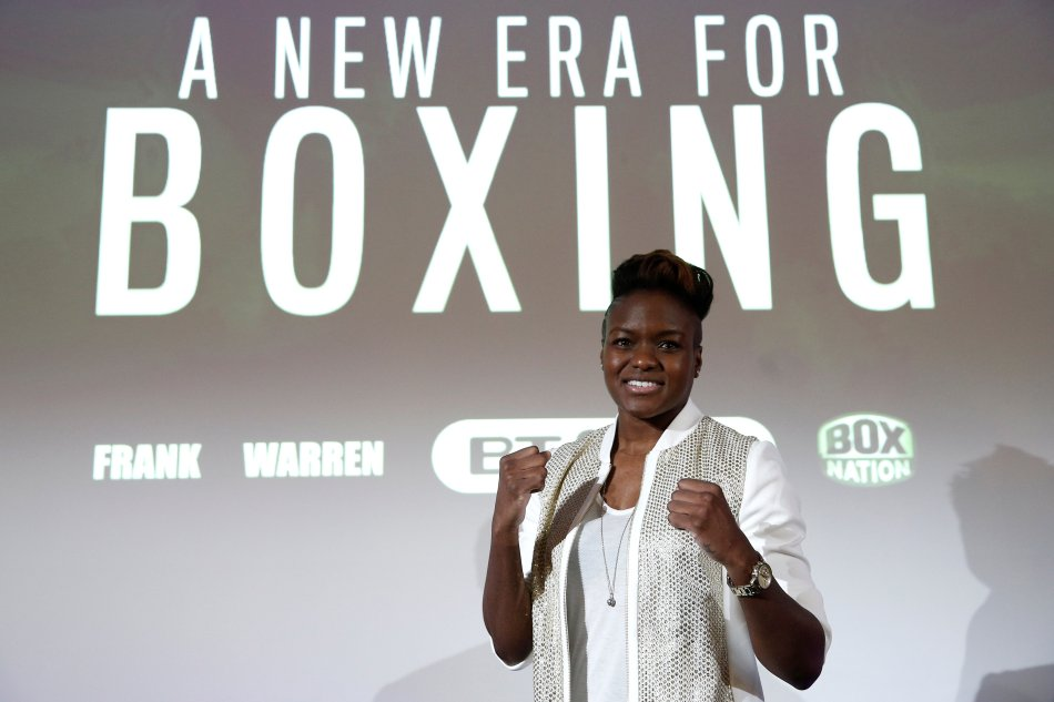 Nicola Adams poses after the press conference