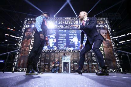 Mayweather vs McGregor Press Conference