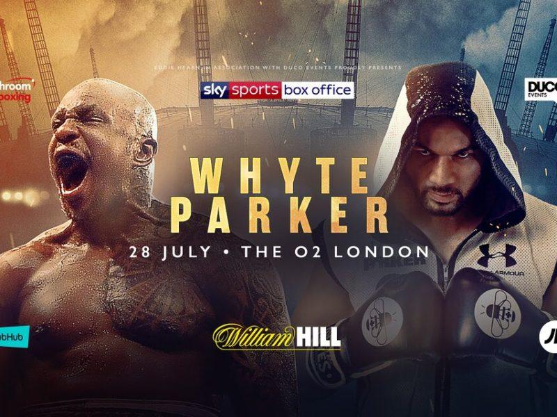 Resultado de imagen de Dillian Whyte vs Joseph Parker Live Fight