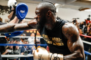 Deontay Wilder media workout